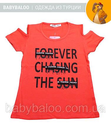 """Красивая футболка  для девочки """"Forever"""" (от 3 до 7 лет), фото 2"""