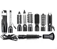 Фен щетка для волос Стайлер GEMEI GM-4833 10в1 (4641)