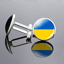 Запонки для рубашки Флаг Украины