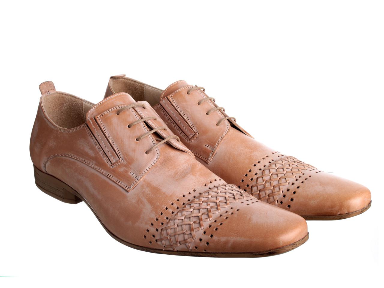 Мужские туфли Etor 4680-464 45 бежевые
