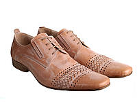 Мужские туфли Etor 4680-464 45 бежевые, фото 1