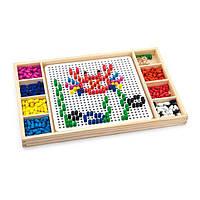 Настольная игра Viga Toys 2-в-1 Мозаика и лудо (59990), фото 1