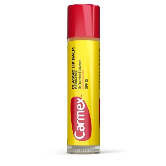Увлажняющий бальзам-стик для губ Carmex Moisturizing Lip Balm Stick SPF 15 классический