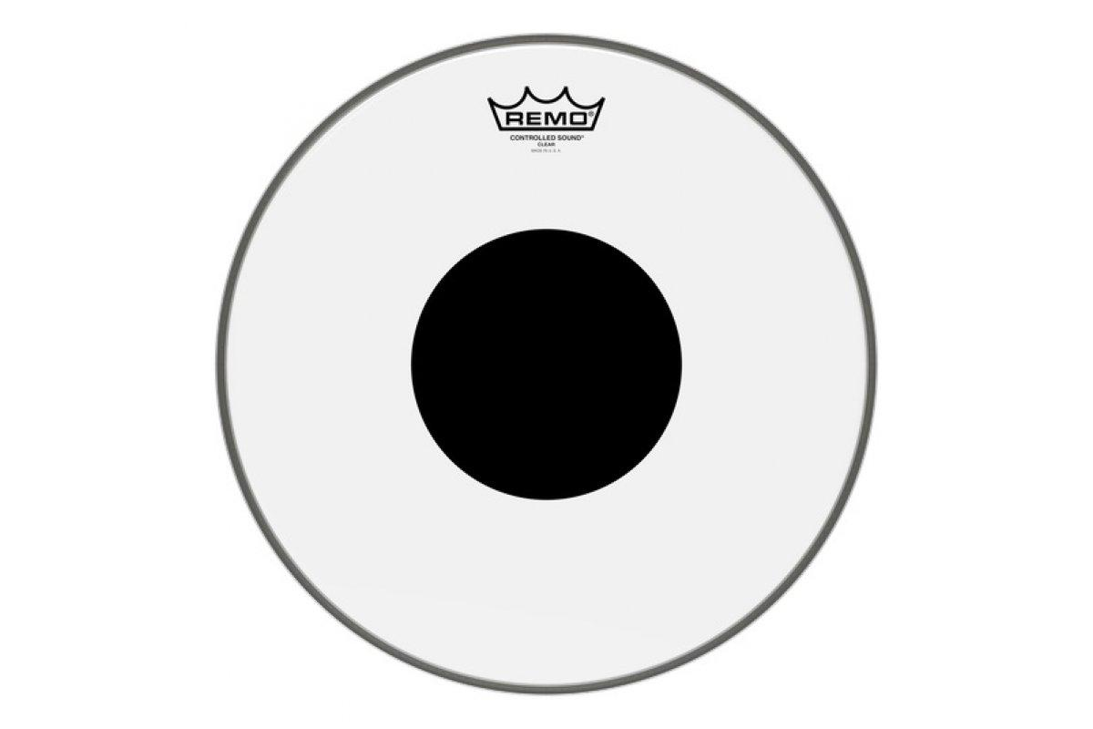 "Пластик для барабана REMO CS 14"" CLEAR BLACK DOT"
