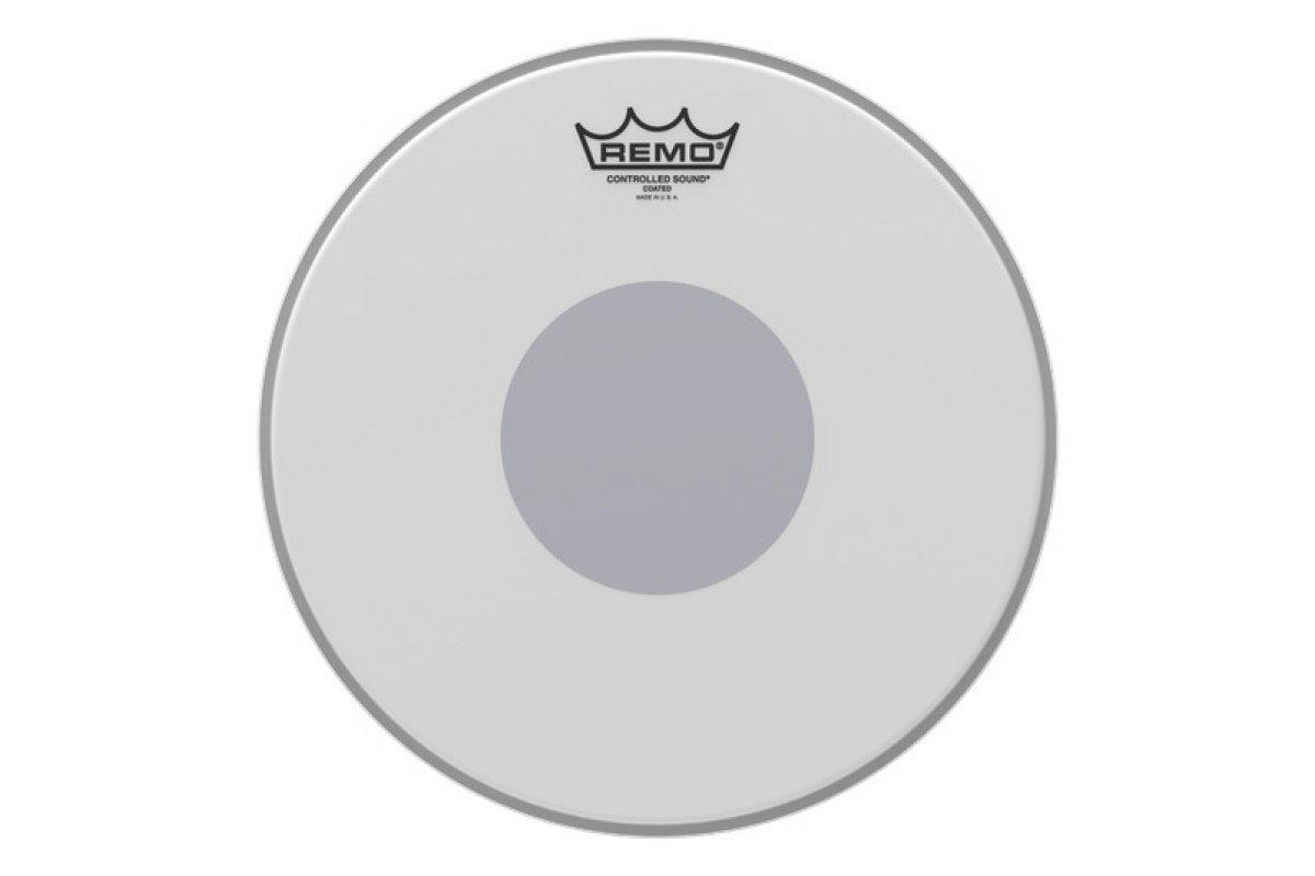 "Пластик для барабана REMO CONTROLLED SOUND®, Coated, 12"" Diameter, BLACK DOT™ On Bottom, Batter"