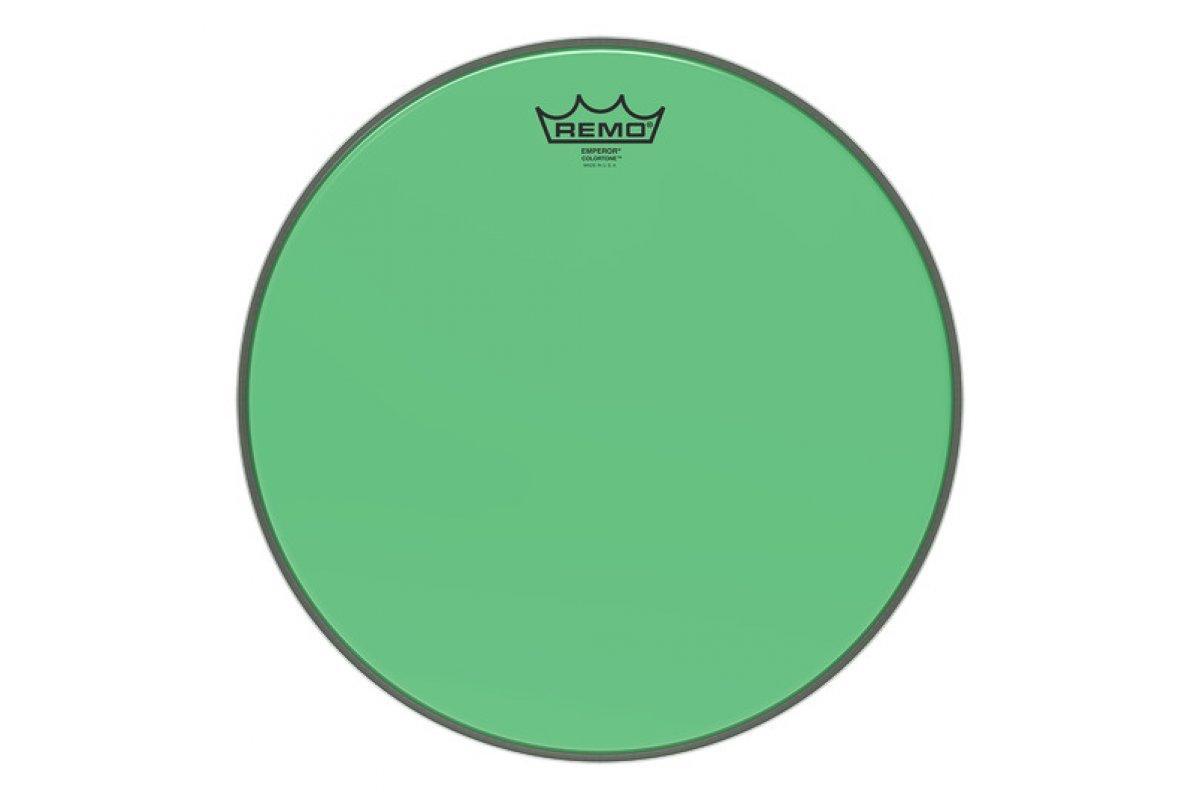"Пластик для барабана REMO EMPEROR 14"" COLORTONE GREEN"