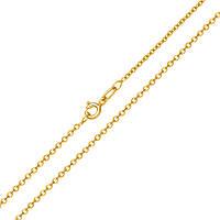 Золотая цепь Сантим классического якорного плетения в желтом цвете, 1мм 000091885 50 размер