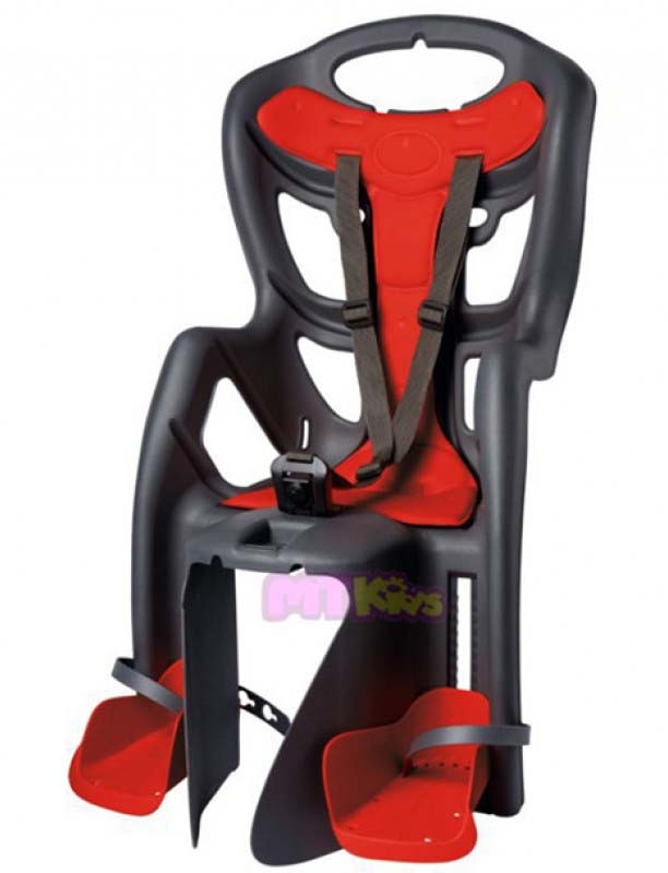 Велокресло Bellelli Pepe Италия clamp на багажник серый
