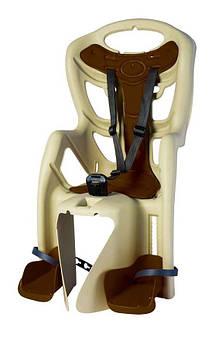 Велокресло Bellelli Pepe Италия clamp на багажник бежевый
