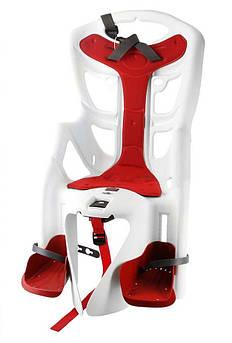 Велокресло Bellelli Pepe Италия clamp на багажник белый
