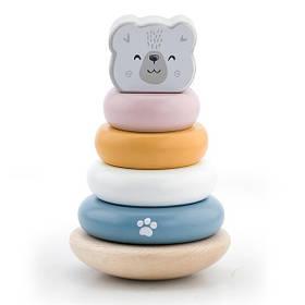 Деревянная пирамидка Viga Toys PolarB Белый мишка, неваляшка (44005)