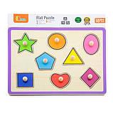 Деревянная рамка-вкладыш Viga Toys Цветные фигуры (50015), фото 2