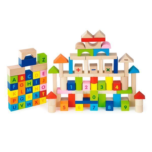 """Набор кубиков Viga Toys """"Алфавит и числа"""" 100 шт., 3 см (50288)"""