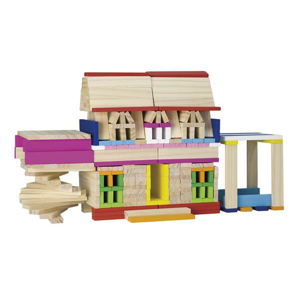 Деревянные строительные кубики Viga Toys Архитектурные блоки, 250 шт. (50956)