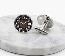Запонки для одежды в виде часов