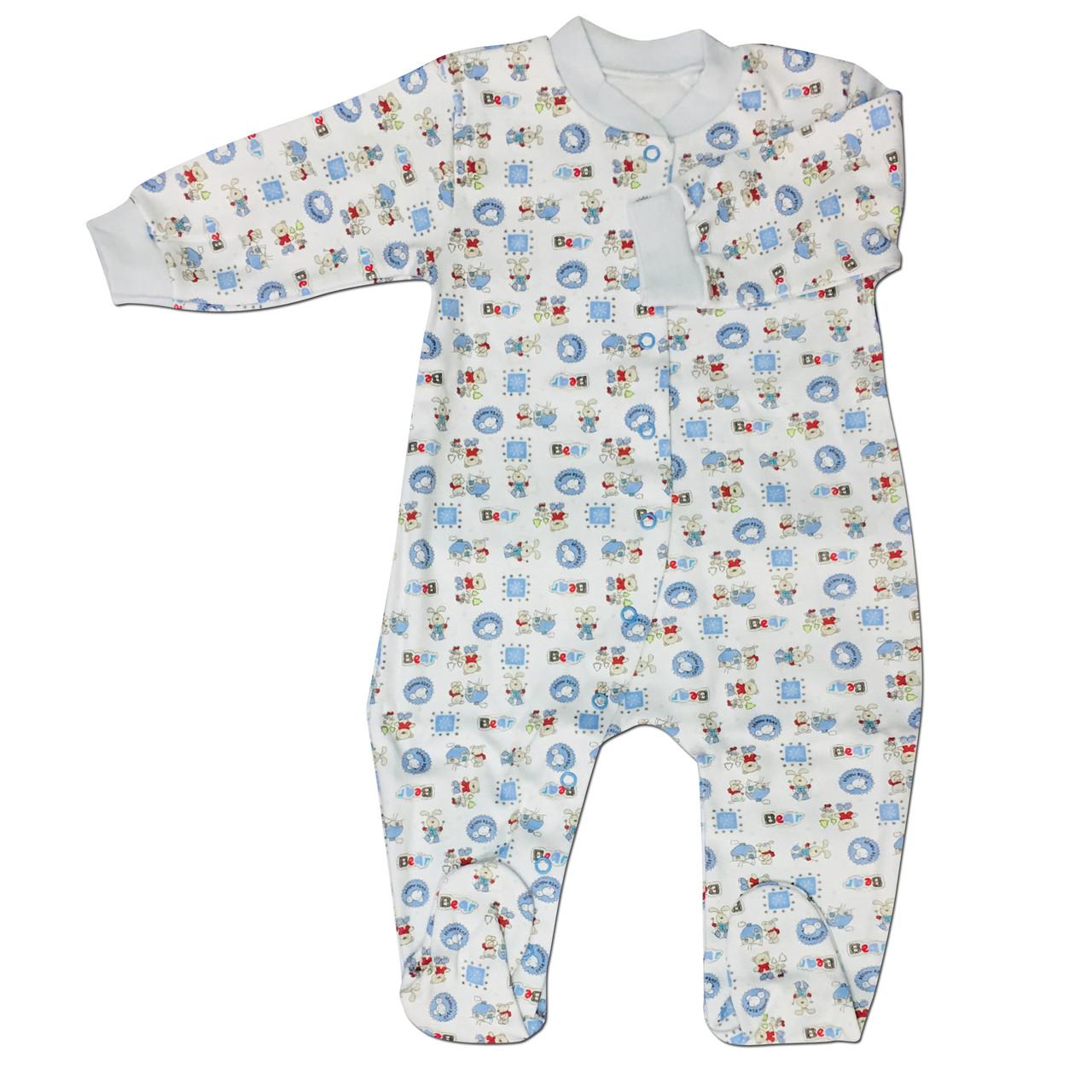 Комбинезон человечек для новорожденных, 74см, интерлок