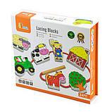 Деревянная шнуровка Viga Toys Ферма (59548), фото 2
