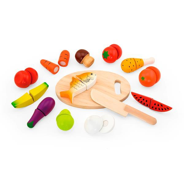 Игрушечные продукты Viga Toys Нарезанная еда из дерева (59560)