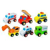 Набор игрушечных машинок Viga Toys Спецтранспорт, 6 шт. (59621), фото 2