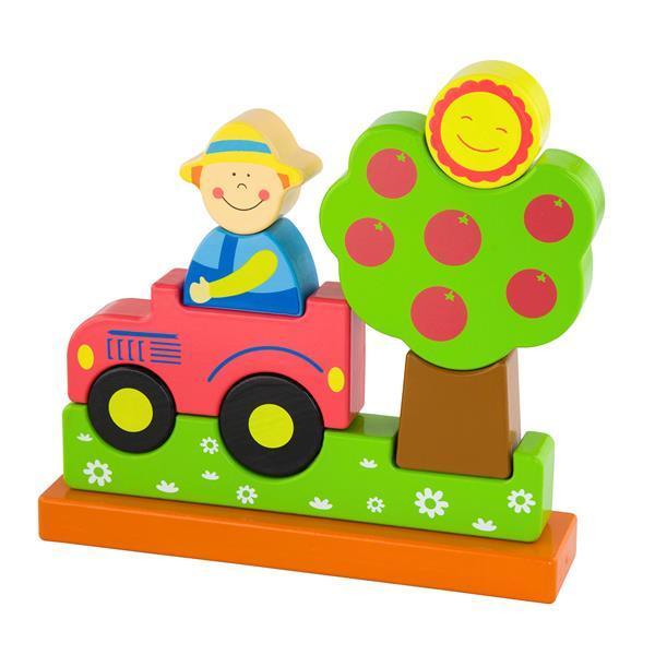 Магнитная деревянная игрушка Viga Toys Ферма (59701)