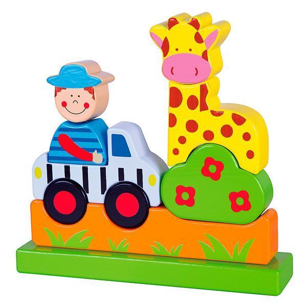 Магнитная деревянная игрушка Viga Toys Зоопарк (59702)