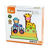 Магнитная деревянная игрушка Viga Toys Зоопарк (59702), фото 2
