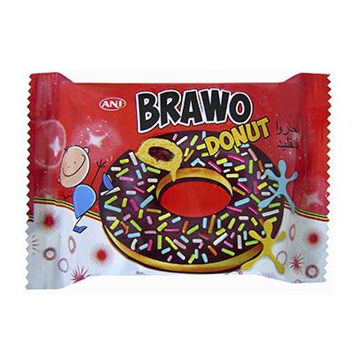 Пончик Brawo Donut Молочный шоколад и гранулы 55 г.