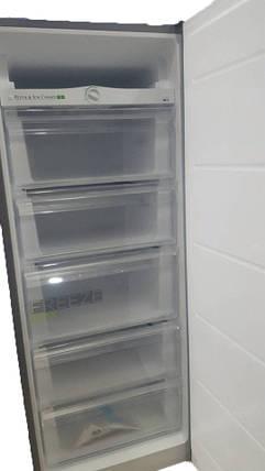 Морозильна камера MIDEA HS-218 FN S сіра (143 см,165 л, 5 ящиків), фото 2