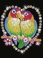 Набір для творчості Sequin Art BLUE Папуги Нерозлучники SA1002