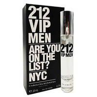Чоловічий міні-парфуми CAROLINA HERRERA 212 VIP MEN 20 мл