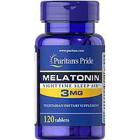 Восстановитель Puritan's Pride Melatonin 3 mg, 120 таблеток
