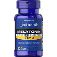 Восстановитель Puritan's Pride Melatonin 3 mg, 120 таблеток