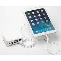 Защита витринная для IPHONE - IPAD на 6 портов, пульт, зарядное устройство, БП, подставки 6 штук, кабель Lighting + Alarm Sensor