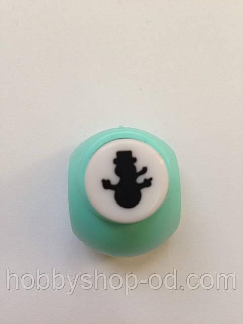 Дырокол снеговик 1 см кнопка
