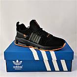 Кроссовки Мужские Adidas Черные Адидас (размеры: 42,43,44,45) Видео Обзор, фото 5