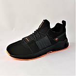 Кроссовки Мужские Adidas Черные Адидас (размеры: 42,43,44,45) Видео Обзор, фото 7