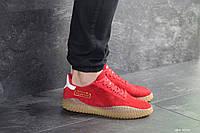 Мужские кроссовки красные копия Adidas Kamanda 8090