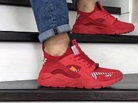 Мужские кроссовки красные копия Baas 8919