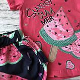 Летний розовый костюм на девочку 15. Размер  5 лет, фото 2