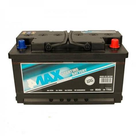 4Max 6СТ-80 АзЕ (0608-03-0018Q) Автомобильный аккумулятор, фото 2