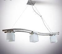 Люстра 3-х ламповая, металлическая, деревянная, спальня, зал, кухня, коридор