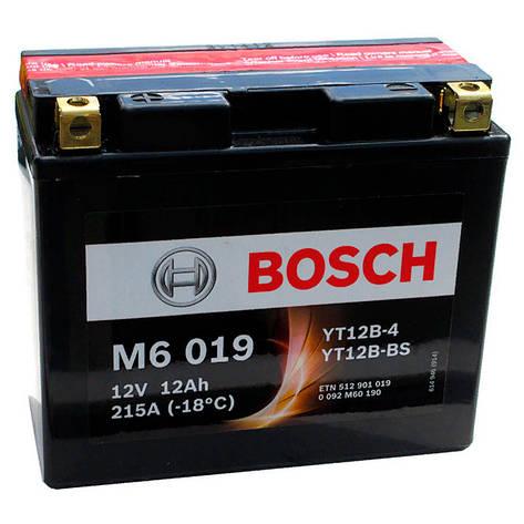 Bosch 6СТ-12 (0092M60190) Мото акумулятор, фото 2