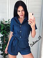 Летний джинсовый комбинезон, фото 1
