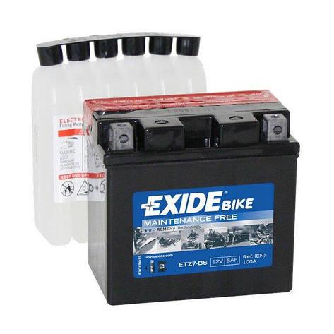 EXIDE 6СТ-9,5 (ET12A-BS) Мото аккумулятор, фото 2