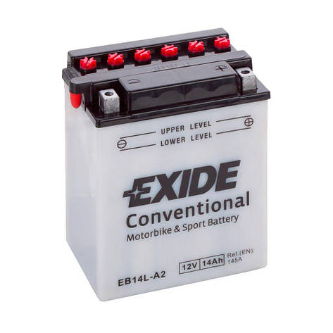 EXIDE 6АС-14 (EB14L-A2) Мото аккумулятор, фото 2