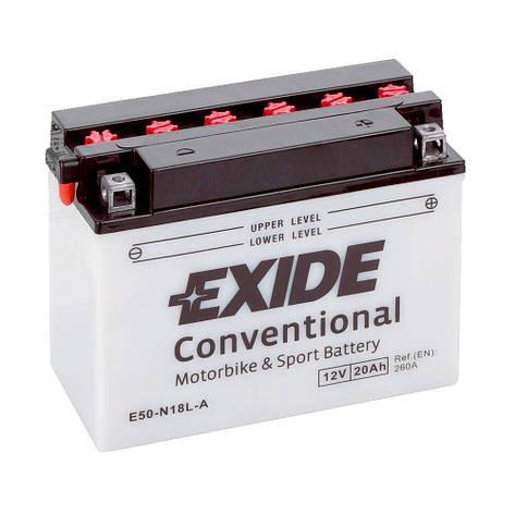 EXIDE 6СТ-20 (E50-N18L-A) Мото аккумулятор, фото 2