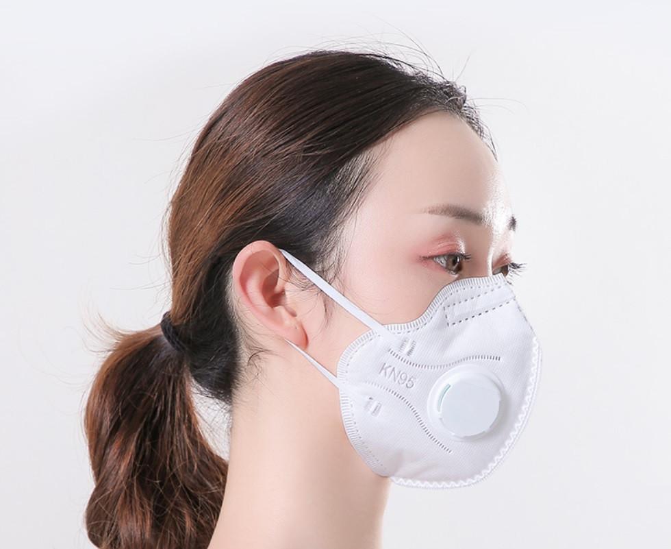 Респіратор маска з клапаном KN95/FFP2