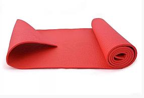 Килимок для спорту, килимок для йоги, туристичний килимок, йогамат. (Червоний)