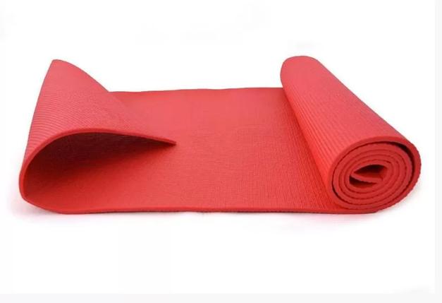 Коврик для спорта, коврик для йоги, туристический коврик, йогамат. (Красный), фото 2