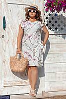 Красивое летнее платье батал
